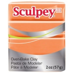 Sculpey® III Polymer Clay Just Orange: Orange, Bar, Polymer, 2 oz, (model S3021634), price per each