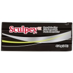 Sculpey® III Oven-Bake Clay Black: Black/Gray, 1 lb, Oven Bake, (model S31042), price per each