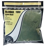 Woodland Scenics® Green Blended Turf: Green, 50 cu in, Turf, (model WST1349), price per each