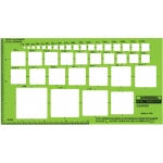 "Rapidesign® Squares Template; Scale: 1/16"" - 1 3/8""; (model 30R), price per each"