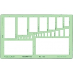 """Timely® Rectangles Template; Scale: 1/16"""" x 1/8"""" - 2 3/8"""" x 4 3/4""""; (model 56T), price per each"""