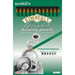 Kimberly Drawing Pencils: Assorted, Range 6B to 4H, Set of 12
