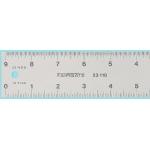"""Fairgate® 12"""" Eluxite Aluminum Centering Ruler; Color: Metallic; Material: Aluminum; Size: 12""""; Type: Gauge; (model RC12), price per each"""