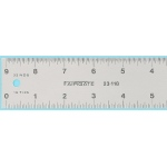 "Fairgate® 24"" Eluxite Aluminum Centering Ruler: Metallic, Aluminum, 24"", Gauge, (model RC24), price per each"