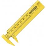 """General® 3"""" Pocket Caliper: Yellow, Plastic, 3"""", Manual, Caliper, (model G141ME), price per each"""
