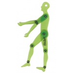 "Alvin® Human Figure 6.75"" Template: 1:10, (model TD1735B), price per each"