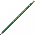 Kimberly® Drawing Pencil F; Color: Black/Gray; Degree: F; Type: Drawing; (model 525G-F), price per dozen (12-pack)