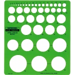 Rapidesign® Metric Large Circles Template: 2 mm - 50 mm, (model 2140R), price per each