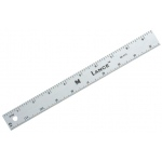 "Lance® 12"" Graduated Aluminum Ruler: Metallic, Aluminum, 12"", General Purpose, (model SE012), price per each"