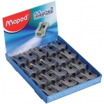 Maped® Single-Hole Metal Wedge Sharpener: Metallic, One, Plastic, 20-Box, Manual, (model M506600), price per 20-Box box