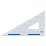 "Alvin® 10"" Cutting Edge Triangle 30°/60°: 30/60, Clear, Acrylic, 10"", Triangle, (model ACT360-10), price per each"