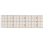 "Westcott® C-Thru® 6"" Standard Beveled Ruler: Clear, Plastic, 6"", Ruler, (model B50), price per each"