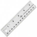 "Alvin® 15"" Flexible Stainless Steel Ruler: Metallic, Steel, 15"", General Purpose, (model R590-15), price per each"