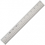 "Alvin® 39"" Aluminum Ruler: Metallic, Aluminum, 39"", Ruler, (model AS07-39), price per each"