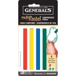 General's® MultiPastel® Compressed Sticks Primary; Color: Multi; Format: Stick; (model 9405ABP), price per set