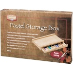 "Heritage Arts™ Pastel Storage Box 1 Drawer; Color: Brown; Material: Wood; Size: 9 1/2""l x 14 3/4""w x 2 1/4""h; Type: Storage Box; (model HWB163), price per each"