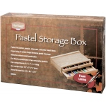 "Heritage Arts™ Pastel Storage Box 2 Drawer; Color: Brown; Material: Wood; Size: 9 1/2""l x 14 3/4""w x 3 1/8""h; Type: Storage Box; (model HWB164), price per each"