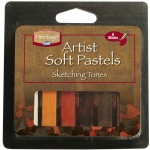 Heritage Arts™ Sketching Tones Artist Soft Pastel Set; Color: Multi; Format: Stick; (model ASP6LG), price per set