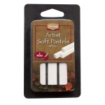 Heritage Arts™ White Artist Soft Pastel 3-Pack Set; Color: White/Ivory; Format: Stick; Type: Soft; (model ASP3W), price per set