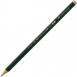 Faber-Castell® 9000 Black Lead Pencil 4H; Color: Black/Gray; Degree: 4H; (model FC119014), price per dozen (12-pack)