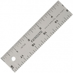 "Fairgate® 12"" Cork-Back Aluminum Ruler: Metallic, Aluminum, 12"", General Purpose, (model CR12), price per each"