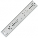 "Lance® 18"" Aluminum Center Finding Rule; Color: Metallic; Material: Aluminum; Size: 18""; Type: General Purpose; (model CF018), price per each"