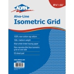"Alvin® Alva-Line Isometric Grid Pad 11"" x 17""; Grid Size/Pattern: Isometric; Quantity: 50 Sheets; Size: 11"" x 17""; Type: Tracing; Weight: 16 lb; (model 6855ISO-7), price per 50 Sheets pad"