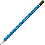 Lumograph® Drawing Pencil F; Color: Black/Gray; Degree: F; Type: Drawing; (model 100-F), price per dozen (12-pack)