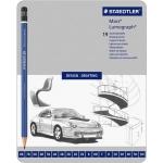 Lumograph® Drawing Pencil 19-Pack; Color: Black/Gray; Type: Drawing; (model 100-G19), price per set
