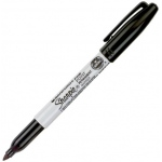 Sharpie® Fine Point Black Permanent Marker; Color: Black/Gray; Tip Type: Fine Nib; (model SN30001), price per each