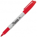 Sharpie® Fine Point Red Permanent Marker; Color: Red/Pink; Tip Type: Fine Nib; (model SN30002), price per each