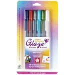 Sakura of America Glaze 3-D Glossy Ink Pen: 6-Color Set