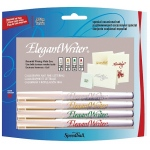 Speedball® Elegant Writer® Calligraphy 4-Color Marker Set; Color: Multi; Ink Type: Dye-Based; Tip Type: Broad Nib, Fine Nib, Medium Nib; Type: Calligraphy; (model S2886), price per set