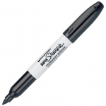 Sharpie® Bold Point Black Permanent Marker: Black/Gray, Bold Nib, (model SN33001), price per each