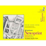 "Strathmore 300 Series Tape Bound Newsprint Pad: 18"" x 24"", Smooth Surface, 50-Sheet"