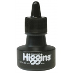 Higgins® Waterproof Color Drawing Ink Blue; Color: Blue; Format: Bottle; Ink Type: Dye-Based; Size: 1 oz; Waterproof: Yes; (model SN44108), price per each