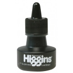 Higgins® Waterproof Color Drawing Ink Leaf Green: Green, Bottle, Dye-Based, 1 oz, Waterproof, (model SN44111), price per each