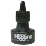 Higgins® Waterproof Color Drawing Ink Indigo; Color: Blue; Format: Bottle; Ink Type: Dye-Based; Size: 1 oz; Waterproof: Yes; (model SN44117), price per each