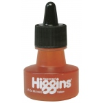 Higgins® Waterproof Color Drawing Ink Yellow; Color: Yellow; Format: Bottle; Ink Type: Dye-Based; Size: 1 oz; Waterproof: Yes; (model SN44205), price per each