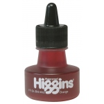 Higgins® Waterproof Color Drawing Ink Orange; Color: Orange; Format: Bottle; Ink Type: Dye-Based; Size: 1 oz; Waterproof: Yes; (model SN44206), price per each