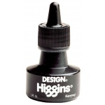 Higgins® Waterproof Black Ink: Black/Gray, Bottle, India, Pigment, 1 oz, Waterproof, (model SN44201), price per each