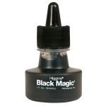 Higgins® Black Magic® Waterproof Ink; Color: Black/Gray; Format: Bottle; Ink Type: Pigment; Size: 1 oz; Waterproof: Yes; (model SN44011), price per each