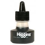 Higgins® Non-Waterproof Black Ink; Color: Black/Gray; Format: Bottle; Size: 1 oz; (model SN44021), price per each