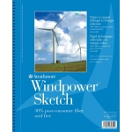 "Strathmore® Windpower™ 5.5"" x 8.5"" Wire Bound Sketch Pad: Wire Bound, White/Ivory, Pad, 70 Sheets, 5 1/2"" x 8 1/2"", 60 lb, (model ST657-6), price per 70 Sheets pad"