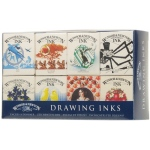 Winsor & Newton™ Drawing Ink Introductory Set; Color: Multi; Format: Bottle; Size: 14 ml; Type: Drawing Ink; (model 1090093), price per set