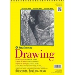 "Strathmore® 300 Series 9"" x 12"" Wire Bound Drawing Pad 25 Sheets: Wire Bound, White/Ivory, Pad, 25 Sheets, 9"" x 12"", Medium, 70 lb, (model ST340-309), price per 25 Sheets pad"