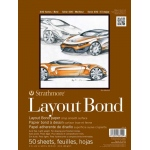 "Strathmore 400 Series Glue Bound Layout Bond Pad: 11"" x 14"", 50-Sheet"