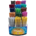 Gelly Roll® Metallic Pen Display; Color: Multi; Ink Type: Gel; Tip Size: 1mm; (model S57402D), price per each