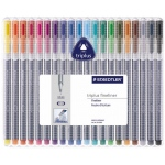 Staedtler® Triplus® Fineliner Pen 20-Color Set; Color: Multi; Ink Type: Dye-Based; Tip Size: .3mm; Tip Type: Fine Nib; (model 334SB20), price per set