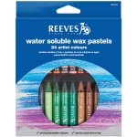 Reeves™ Water Soluble Wax Pastel 24-Color Set; Color: Multi; Format: Stick; Type: Wax; (model 4890586), price per set